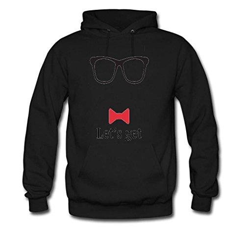 weileDIY glasses DIY Custom Women's Classic Hoodie Sweatshirt Black