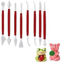 Kuchen und Deko 11-teilig PME Arts /& Crafts HW380 Torten-Set Teiggl/ätter//-messer//-roller f/ür Torten Modellierwerkzeug