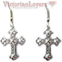 Orecchini Croce Gotica Filigranata Croci Simbolo Religioso Gothic Cross Dark Religious Symbol