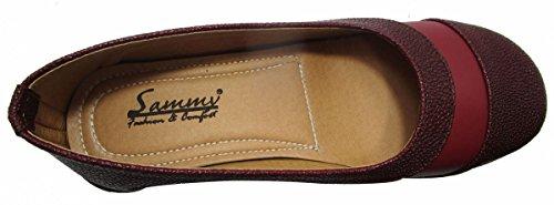 Sammy chaussures de sport cove cales à bout rond chaussures femmes Bordeaux