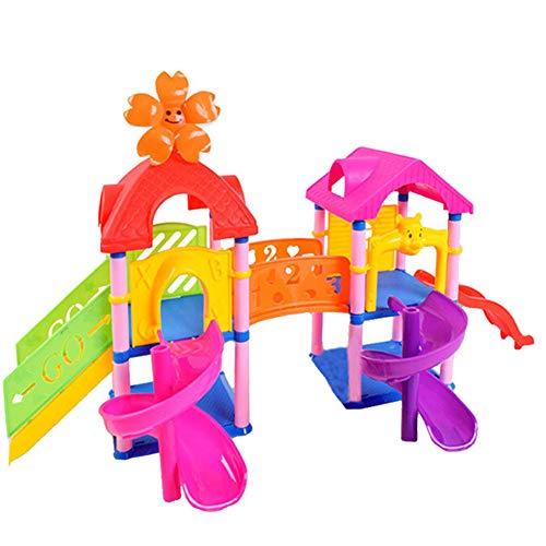 Oksea Großer Spielplatz Spiel Eine Reihe von Überraschungspuppenzubehör Prinzessin Doll Park House Spiel Big Slide Spielset Geschenk Spielzeug für LOL Überraschungspuppe (Mehrfarbig) (Doll Spielen House)