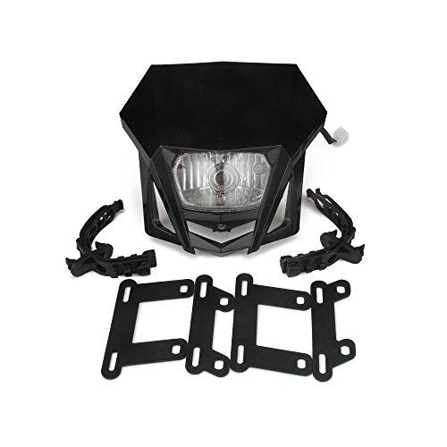 4pcs TUINCYN Moto Clignotant Ampoule Noir Anodis/é En Aluminium Moteur Clignotant Lampe Montage pour Harle Yamah Chopper Cafe Cruiser DC 12V .