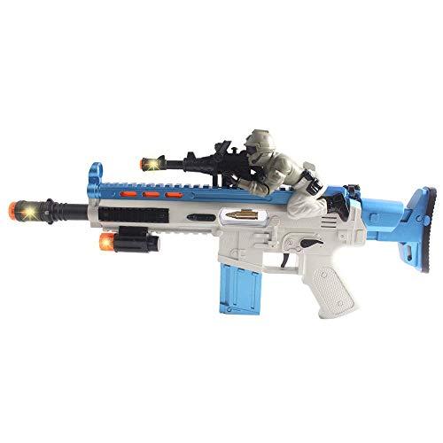 Pistola Giocattolo per Bambini con Luci a LED per Lampi di Colori e Effetti di Vibrazione, Giochi Fantasiosi per Ragazze e Ragazzi Come Regali di Compleanno (Fucile)