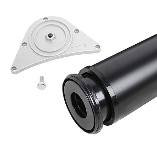 Tischbein 80mm Durchmesser Höhe 710mm in Schwarz aus Metall Tischfuß Möbelfuss