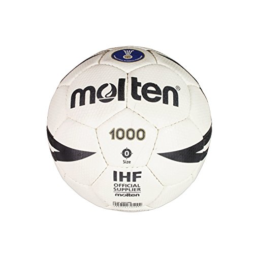 Molten H0X1000 - Balón de balonmano, multicolor (blanco/negro/oro), tamaño 0