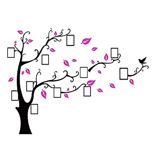 3D Wall Sticker Family Photo Frame Detachable Family Tree Wall Decals Beautiful Piece That Proudly Shows Off to Your Friends and Family,Decor for Living Room, Bedroom