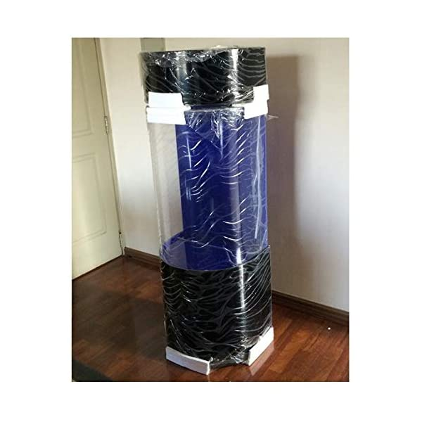 Cylindrical Circular Aquarium 150L Black Diameter 50 cm