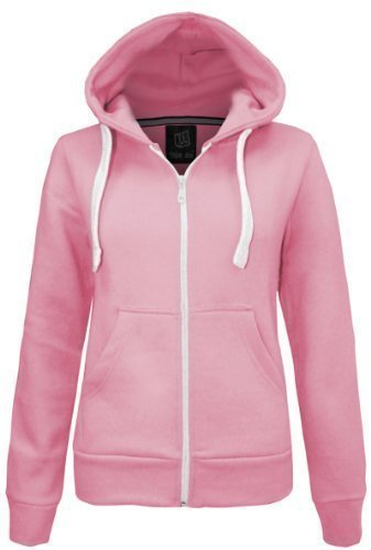 Zucchero filato felpa da donna con sudore-shirt giacca in pile dimensioni parte superiore 8-20