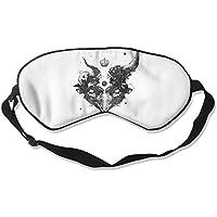 Sleep Eye Mask Skull Horns Lightweight Soft Blindfold Adjustable Head Strap Eyeshade Travel Eyepatch E3 preisvergleich bei billige-tabletten.eu