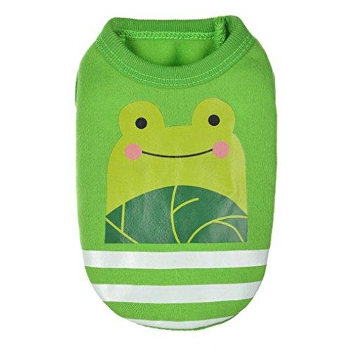 Linlink Kleine Milchhundehundehunde Nette Weste Kleidet, Kreatives Tier Emoji Modeweste-Hemd des Sommerwelpen, Weich und Bequem