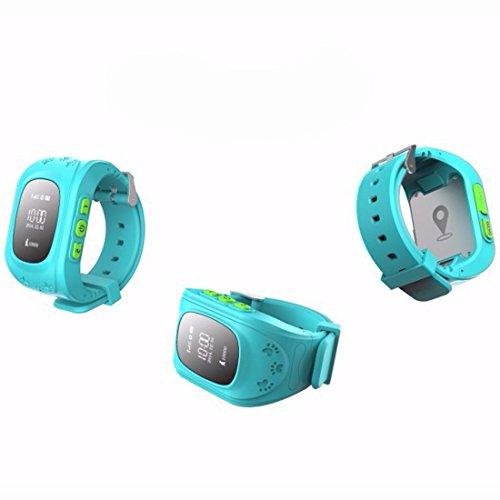 Amazing GPS Tracker Kinder Smartwatch Armbanduhr Telefon Antiverlust SOS Armband Blau Abbildung 2
