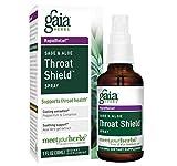 Gaia Herbs Sage and Aloe Throat Shield Spray, 1-Ounce Bottle