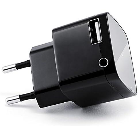 CSL - receptor Bluetooth (receptor de audio) con conector de carga USB | adaptador para música sin cables/inalámbrico | receptor de audio Bluetooth | para dispositivos de audio con Bluetooth (teléfono inteligente/tableta/equipo HiFi/radio del coche) | Bluetooth V2.1 + DER | conector jack de 3,5 mm | A2DP y AVRCP | hasta 10 m de alcance | streaming de música sin