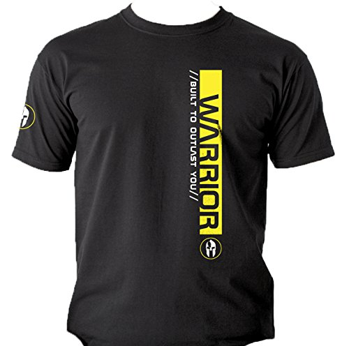 Quality Men's 'WARRIOR. Built To Outlast You' T-shirts. Yellow