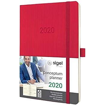 SIGEL C1970 Wochenkalender CONCEPTUM® 2019 Hardcover nude brown 192S A5 NEU ca