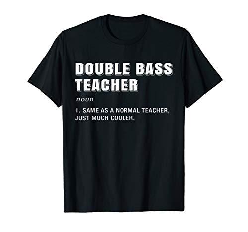 Definition Kontrabass Spieler T-Shirt Geschenk Kontrabassist