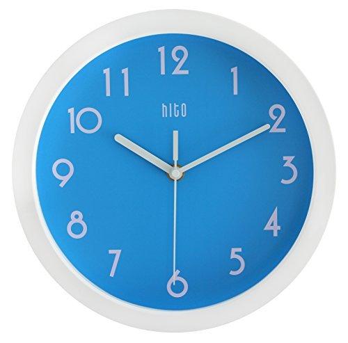 HITO™ modernen bunten Stille Nicht-tickende Wanduhr- 10 Zoll (blau)