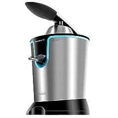 Idea Regalo - Cecotec Zitrus Adjust 160 Black .Spremiagrumi elettrico di Braccio, 160 W con Filtro di Polpa, Due Coni Smontabili di Differente dimensione, Adatto per lavastoviglie