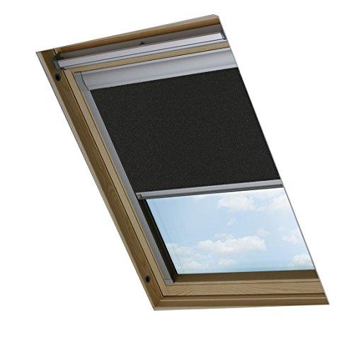 Bloc skylight blind m04- tenda a rullo oscurante per lucernari velux, colore: nero, 603mm x 730mm