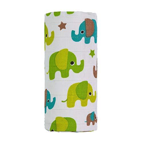 Toalla de bambú grande de elefantes TT4406, unisex, color verde, tamaño grande