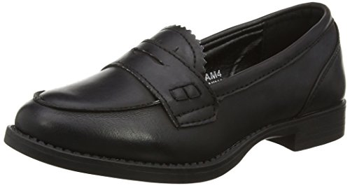 Spot On H3027, Mocassins (loafers) fille Noir (noir)