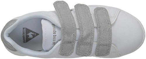 Le Coq Sportif Mädchen Courtone Ps Glitter Sneakers Weiß (Optical WhiteOptical White)