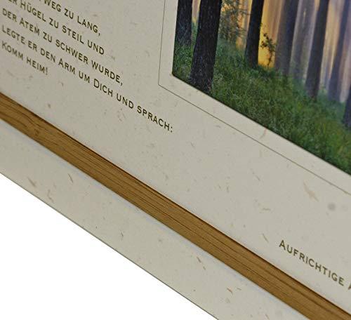 Trauerkarte STRAND DES LEBENS| Brandung | metALUm #01538