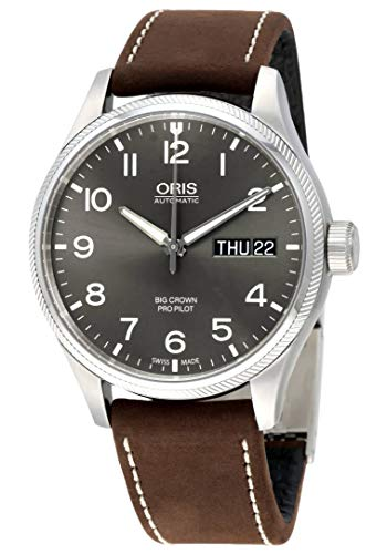 Oris Big Crown Pro Pilot Automatic Grey Dial Mens Watch 752-7698-4063BRLS