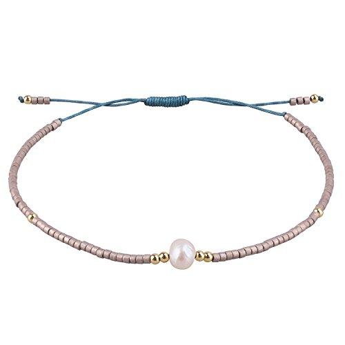 C.QUAN CHI Bunt String Armbänder Gewebte Strand Armband Handgefertigt Geflochten Armband Bohemien Schmuck Frau Geschenk zum Beste Freund