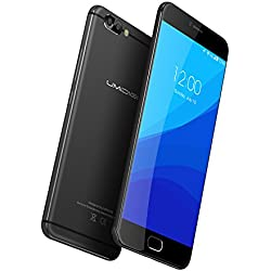 UMIDIGI Z Pro Smartphone( 5.5 Zoll Display (14 cm), 13MP Dual-Hauptkamera + 13MP Front Kamera, Deca-Core Helio X27 CPU 2.6Ghz Prozessor, 4GB RAM 32GB ROM, Dual SIM, Front Touch Fingerprint Sensor, Android 6.0 (Android 7.0 Update OTA) - Premium-Schwarz