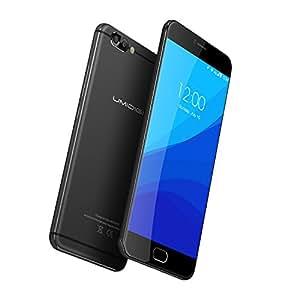 UMIDIGI Z Pro Smartphone( 5.5 Zoll Display (14 cm), 13MP Dual-Hauptkamera + 13MP Front Kamera, Deca-Core Helio X27 CPU 2.6Ghz Prozessor, 4GB RAM 32GB ROM, Dual SIM, Front Touch Fingerprint Sensor, Android 6.0 (Android 7.0 Update OTA) - Premium-Schwarz