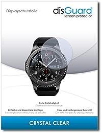 "2 x disGuard® Protector de pantalla Samsung Gear S3 frontier LTE Protectores de pantalla de película ""CrystalClear"" invisible"