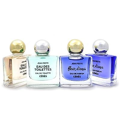 Quatre miniatures 10ml Eau de parfum Fleur d'Anus pour Elle & pour Lui, Eau des Toilettes pour Elle & pour Lui