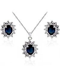 Brautschmuck swarovski kristallen  Suchergebnis auf Amazon.de für: Saphirblau: Schmuck