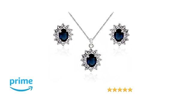 Kaitoly con cristalli di cristallo Parure di collana e orecchini a forma di diamante collana e orecchini anello