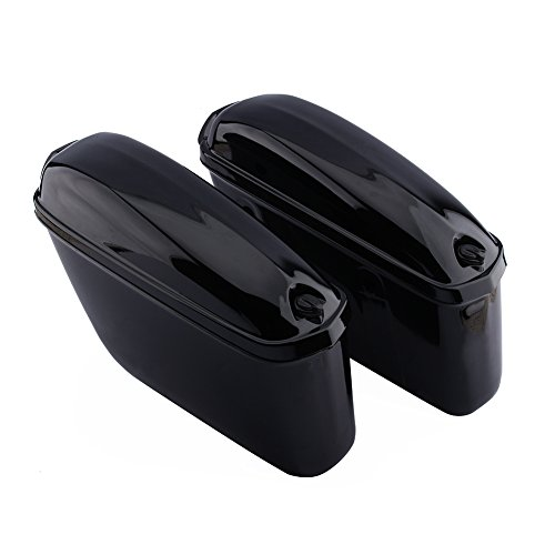 Cocoarm Motorradkoffer Seitenkoffer Side Gepäck Gepäckkoffer mit Sicherheitsschloss für Motor 2 Stück (schwarz)