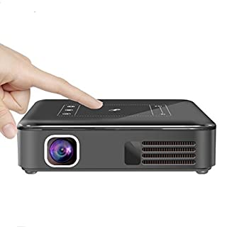 AIJIWU LED Mini Pocket Projector, Mobile DLP Home Theater Android Wi-Fi Smart Pico Projector with Digital 120