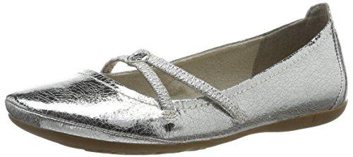 Tamaris Damen 22110 Geschlossene Ballerinas, Silber (Silver Crack 944), 39 EU