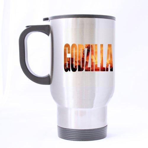 Polices sur mesure Motif Godzilla Motif tasse de café, tasse de voyage, Sport Creative Tasse personnalisée Tasse à thé - 14 Cl