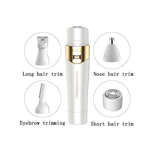 Multifunktional Epilierer 4 in 1 Frau Elektrisch Lippenstift-Rasierer Frau Epilierer Abzieher (Überschüssiges Haarwachstum)