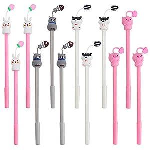 SITAKE 12 bolígrafos divertidos Kawaii,
