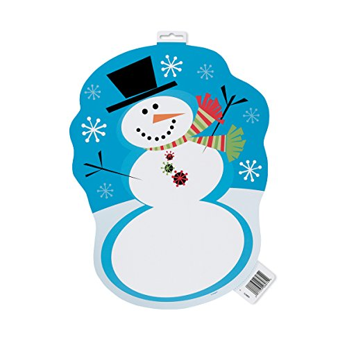 16.5 Paper Cut Out Stellar Snowman Holiday Decoration