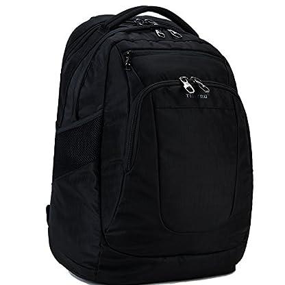 Fubevod Mochila para el de 15,6 Pulgadas Portátil de negocios Multifunción Mochila de bolsa de viaje Negro