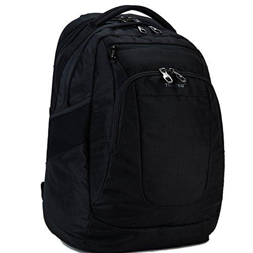 Preisvergleich Produktbild Fubevod Laptop Rucksack Notebook 15 15.6 Zoll für Damen Herren Multifunktions Campus Reise tasche Schwarz