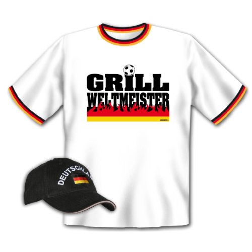 tolles Grill T-Shirt / Kappe : Grill Weltmeister Weiß