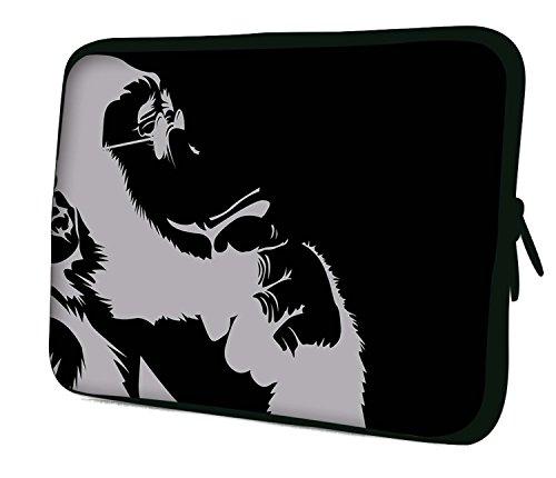 Luxburg® 17,3 Zoll Notebooktasche Laptoptasche Tasche aus Neopren Schutzhülle Sleeve für Laptop/Notebook Computer - Darwin's Großvater