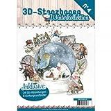 Find It 3D Stanzbogen Buch A4 Winterkollektion Nr.4-24 3D Motiv & 8 Hintergrundpapiere