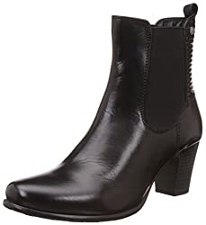 Hush Puppies Womens Karen Black Leather Boots - 6 UK/India (39 EU)(7046960)