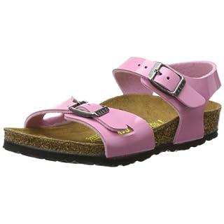 Birkenstock Kids Mädchen RIO BF LACK Pantoletten Pink (CASHMERE ROSE) 27 EU