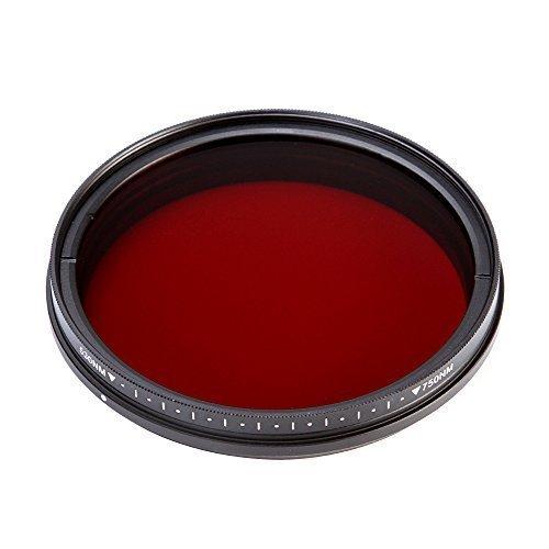 Fotga 55mm Sechs-im-Ein Einstellbare Infrarot Infrared Pass X-Ray-Objektiv-Filter IR Filter 530nm bis 750nm